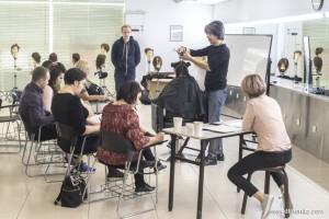 俄罗斯学员美发大师班交流学习