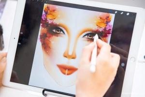 爱云老师化妆直播间,学化妆创意手绘,解锁时尚插画师必备APP