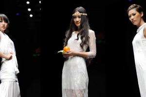 """2012大连时装周:蒙妮坦美发学员绿叶衬""""橙.成""""展演!"""