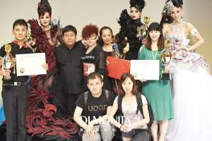 第36届亚洲发型化妆大赛晚宴化妆冠军及全场总冠军