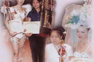 纪艳丽在第二十二届亚洲美发美容大赛获晚宴化妆组冠军及