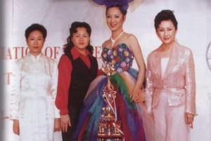 王景之在97首届世界华人发型化妆大赛获晚宴化妆组冠军及