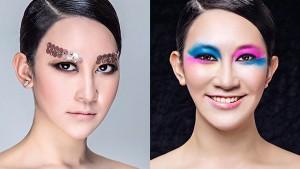高学历美女学化妆