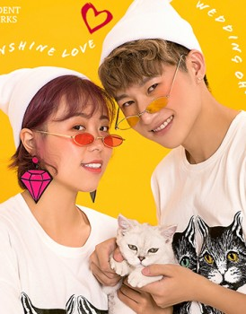 猫猫主题情侣商业拍摄,蒙妮坦摄影学生作品