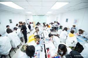 182班形象设计师美甲结业考试,用美甲的工艺,雕刻一幅艺术品