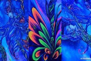 蒙妮坦人体彩绘课程10年全记录,野性表达、艺术释放