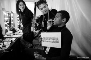 中国国际时装周,蒙妮坦化妆造型师联手GUOJI品牌向世界告白