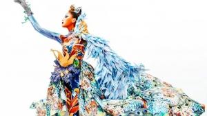 蒙妮坦人物形象设计191班人体彩绘,色彩与肢体语言的碰撞