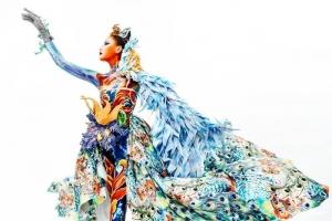 色彩与肢体语言的碰撞 | 人物形象设计191班人体彩绘结课作品惊艳亮相!