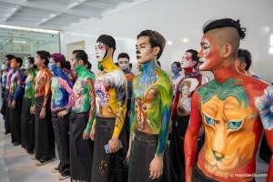大专班化妆结课考试 | 零美术基础,如何完成高水准身体彩绘作品?
