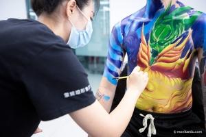 一年制形象设计身体彩绘结课作品展